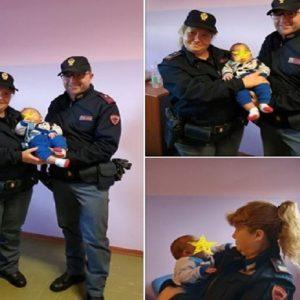 Agrigento, neonato cade e batte la testa. La polizia scorta ambulanza: è salvo