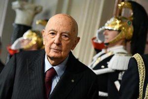 """Giorgio Napolitano: """"I sovranisti propongono un'illusione se non un vero e proprio inganno"""" (foto Ansa)"""