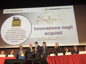Eni vince premio Innovazione negli Acquisti nei Procurement Awards 2019