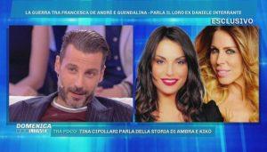"Domenica Live, Daniele Interrante sulle sue ex: ""Francesca De André tradita. Vado io a dirglielo"""