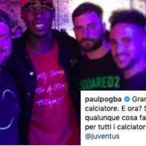 """Juventus, Paul Pogba alla festa di Barzagli. I tifosi: """"Fatelo bere e fatelo firmare!"""""""