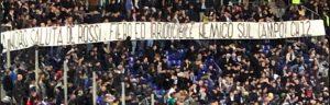 """Lazio-Bologna, striscione per De Rossi: """"Nord saluta fiero nemico"""""""