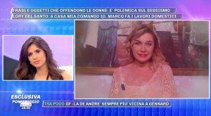 Lory Del Santo a Pomeriggio 5 mostra il video del marito perfetto