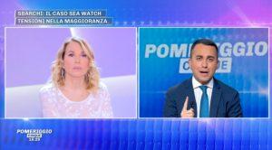 Luigi Di Maio a Pomeriggio 5: Lega vuole far cadere governo dopo il voto