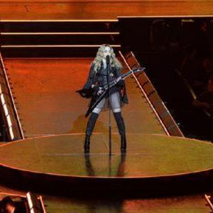 Eurovision 2019, i ballerini di Madonna con le bandiere di Israele e Palestina (foto d'archivio Ansa)