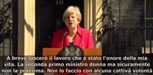 """Theresa May annuncia dimissioni in lacrime: """"Ho servito il Paese che amo""""2"""