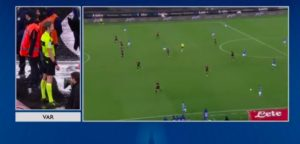 Napoli vince al 98' con rigore assegnato dal var per mano di Cacciatore su cross di Ghoulam