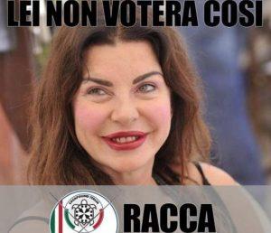 """Marco Racca (CasaPound) usa la foto di Alba Parietti per la campagna elettorale. Lei: """"La denuncio"""""""