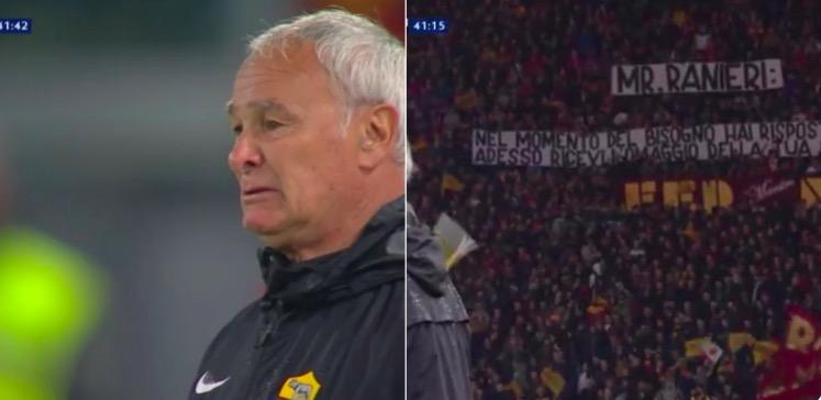 Ranieri lacrime Roma-Parma, Curva Sud striscione da brividi. Foto