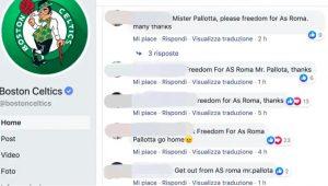 Roma, tifosi contestano Pallotta anche sulla pagina Facebook dei Boston Celtics