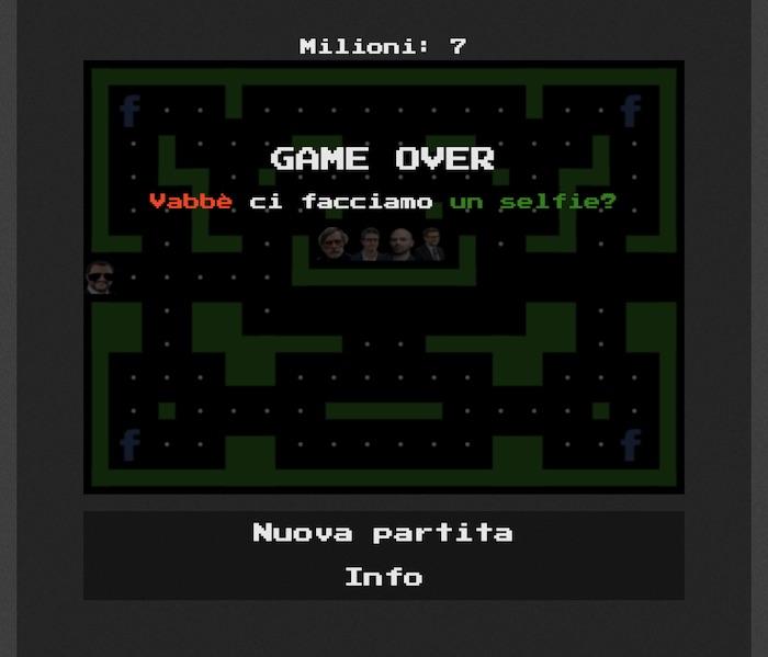 Salvi(ni) Tutti, ministro in versione Pac-Man contro i suoi nemici. Il gioco parodia di un informatico napoletano 02