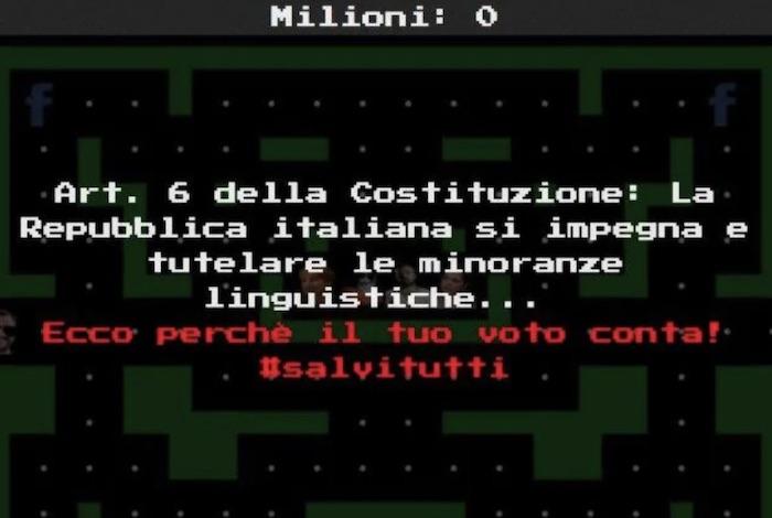 Salvi(ni) Tutti, ministro in versione Pac-Man contro i suoi nemici. Il gioco parodia di un informatico napoletano 03