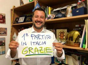 Europee 2019: Salvini raccoglie 2.218.255 voti, nel 2014 erano 374.673