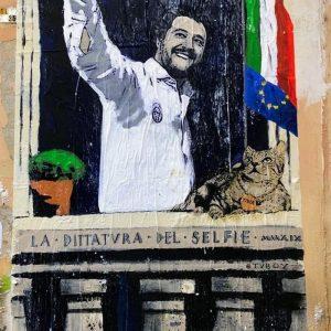 Salvini, murale a Roma di Tvboy2