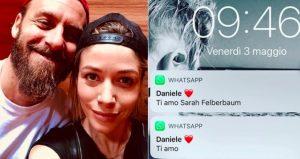 Sarah Felberbaum pubblica messaggio d'amore di De Rossi su Instagram