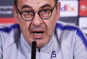 """Sarri: """"Juventus? Prima la finale di Europa League, poi il resto"""""""