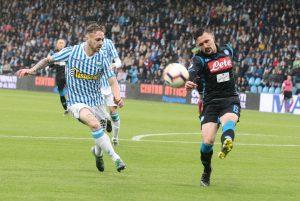 Spal-Napoli 1-2, gol: Allan, Petagna rigore, Mario Rui. Gaetano esordio Serie A
