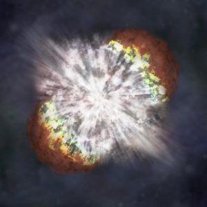 Esseri umani su due gambe per l'esplosione delle stelle