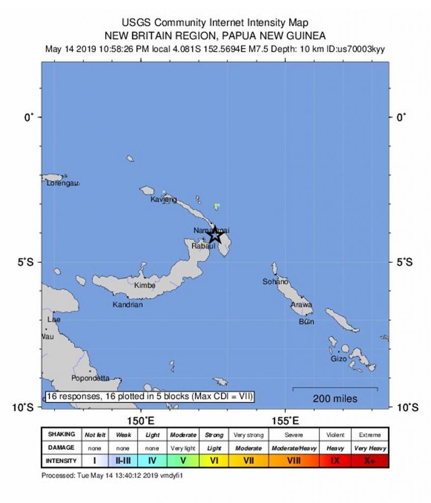 Terremoto Papua Nuova Guinea: scossa del 7.5 revocata l'allerta tsunami2