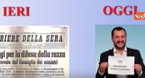 Leggi razziali del 1938 come il decreto sicurezza di Salvini: il video degli studenti di Palermo