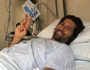 """Walter Nudo e l'ischemia: """"Ho sentito Fabrizio Frizzi vicino"""" (foto Instagram)"""