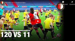 120 bambini contro 11 calciatori del Feyenoord, ecco come è andata a finire: VIDEO