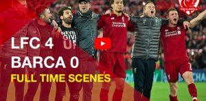 Liverpool-Barcellona, giocatori sotto la curva: il coro You'll Never Walk Alone è da brividi