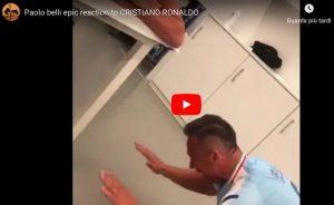 Paolo Belli si inchina due volte a Cristiano Ronaldo, VIDEO sono virali sui social