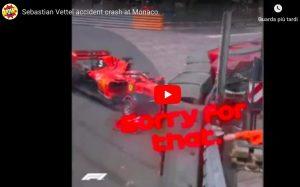 Vettel contro il muro, video con il suo incidente a Montecarlo. Ha chiuso le qualifiche al 4° posto