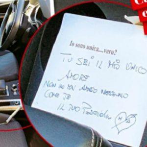 """Ambra Angiolini e il bigliettino per Allegri: """"Sono il tuo... pesciolino"""" (fonte: Chi)"""