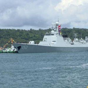 """Australia, tre navi da guerra cinesi a Garden Island. Le polemiche: """"Il Paese si sta inchinando a Pechino"""" (foto d'archivio Ansa)"""