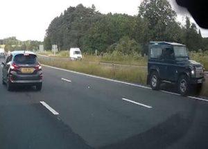auto contromano autostrada