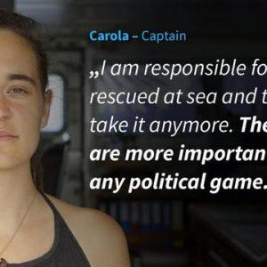 La Capitana Carola contro Il Capitano: l'impossibilità di essere seri