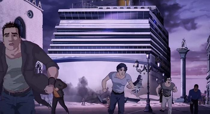 gente fugge nave venezia