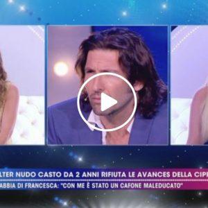 """Live - Non è la D'Urso, Francesca Cipriani: """"Walter Nudo ha passato San Valentino con un uomo"""""""