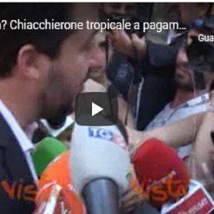 "Salvini: ""Di Battista? Chiacchierone tropicale a pagamento"" VIDEO"
