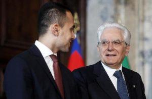 """Di Maio al Quirinale: """"Il Governo vuole continuare"""". Mattarella chiede chiarezza (foto d'archivio Ansa)"""