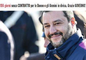 Poliziotti da 156 giorni senza contratto: un contatore ricorda a Salvini le promesse mancate