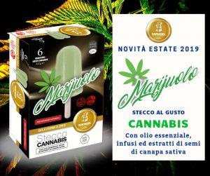 Marijuolo, ghiaccolo alla cannabis light per uno stecco stupefacente