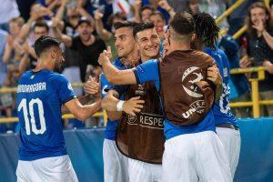 Italia-Spagna 2-1, gol: Dani Ceballosall'8', Federico Chiesa al 35' e al 63'