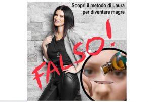 Laura Pausini e il falso spot dimagrante: Non fidatevi, non è vero