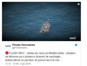 """Libia, allarme di Sea Watch: """"Gommone carico di migranti è in avaria"""""""