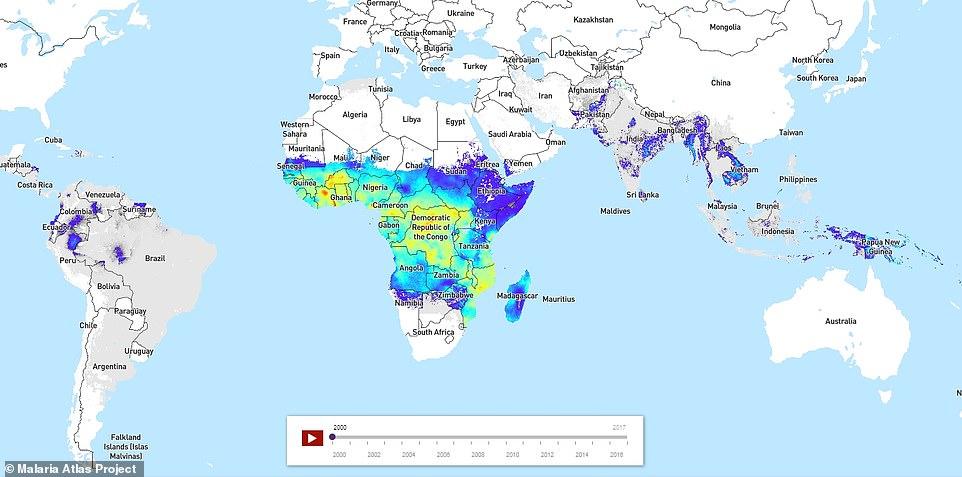 Malaria: 200 mln di persone infette l'anno. Mappa time-lapse mostra come si è spostata dal 2000 01