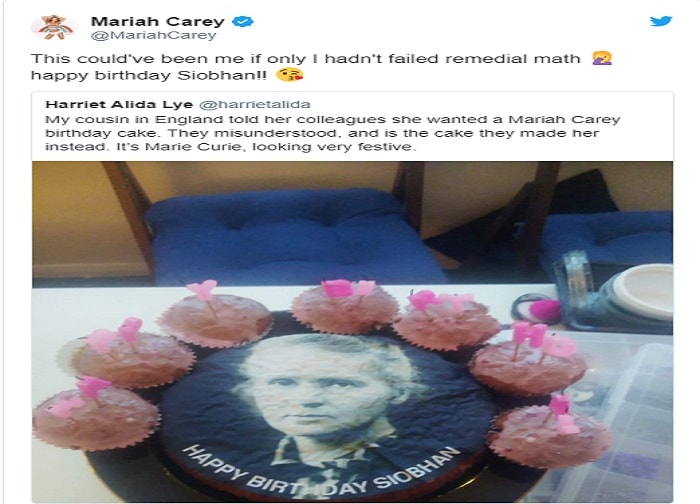 Mariah Carey, l'errore della pasticceria sulla torta per la fan3