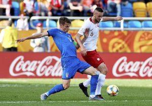 Mondiale Under 20, Italia eliminata in semifinale dall'Ucraina (0-1). AL 92' la Var annulla gol di Scamacca (foto d'archivio Ansa)