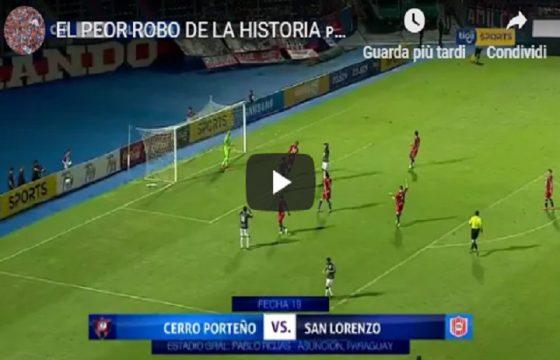 Paraguay, arbitro sbaglia e convalida gol fantasma. Sospeso per... 20 partite VIDEO