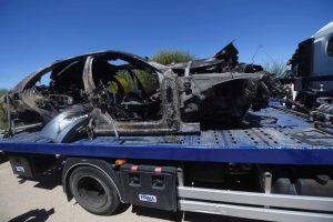 Reyes è morto, foto dell'auto completamente distrutta dopo l'incidente