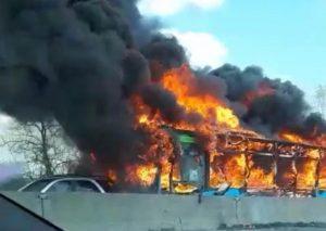 Ousseynou Sy bus fiamme