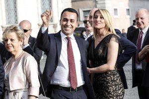Luigi Di Maio e Virginia Saba insieme al ricevimento al Quirinale per la Festa della Repubblica