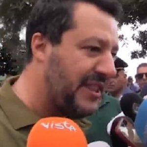 """Salvini alla giornalista di Sky: """"Lei fa politica? Si candidi nella sinistra"""" VIDEO"""